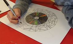 Mandala art tutorial-originally done w/ 4th graders. Amazing!!!!!