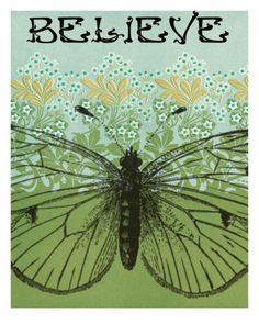 Believe Butterfly Photographic Print