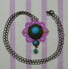 ♥ gothic lolita necklace, pastel goth necklace, steampunk necklace, victorian jewelry, goth necklace, gothic lolita jewelry, agate necklace ♥  https://www.etsy.com/shop/StarlightSparkles