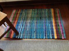 Handwoven Rainbow Floor Rug | savanastore on Etsy