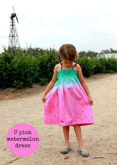 DIY watermelon sundress - Free pattern and tutorial by Sew country chick
