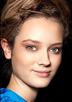 "An understated lit-from-within glow suits every age and skin tone. Update your makeup kit with a new concealer, rose powder blush, and light-diffusing highlighter to get the ""ultrafeminine elegance"" created by makeup artist Lucia Pieroni at Vera Wang. Blend color well. Pictured: Vera Wang Collection   - HarpersBAZAAR.com"