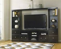 Ashley W271-27 Shay TV Stand B Dimension - 64.72 W x 15.28 D x 2.64 H in
