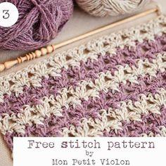 New Free stitch pattern today on the blog!   Www.monpetitviolon.com