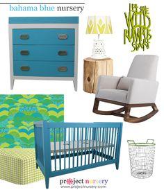 Project Nursery - Blue and Green Nursery Design Board - Project Nursery
