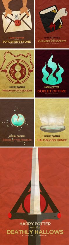 (HP) + (book covers) + (minimalist)