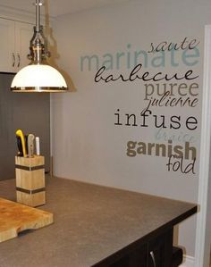Vinyl on your kitchen wall