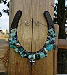 Texas Star Horseshoe Horse Lover GiftsRustic Horseshoe