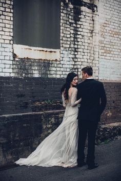 Stunningly embellished Gwendolynne wedding dresses are the perfect choice for edgy, elegant and style-confident Irish brides.