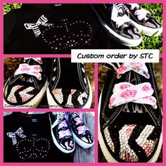 www.facebook.com/strawberrytowncreations #converse  custom converse