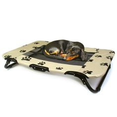 PAW PRINT DESIGN INDOOROUTDOOR PORTABLE FOLDAWAY PET COT WITH MESH INSERT -- To view further for this item, visit the image link.(This is an Amazon affiliate link and I receive a commission for the sales)