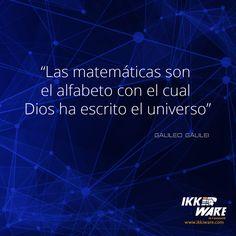 Matematicas frase Galileo #ikkiware #frases #cientificas #universo #Galileo