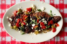 15 Ways To Eat More Feta And Be Happier In Life: Grilled Skirt Steak with Greek Salsa