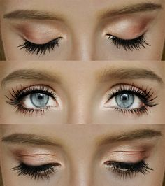 It's actually quite neutral gradient makeup look.  It starts from a sparkly gold, then comes warm coral and the bronze finishes the look.  ...
