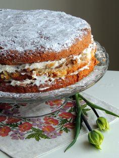 Kokos-rabarberlagkage. – Den glade kagekone Great Recipes, Favorite Recipes, Rhubarb Recipes, Love Cake, Cakes And More, I Love Food, Yummy Cakes, Cake Recipes, Sweet Tooth