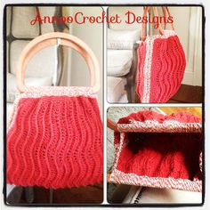 Rippled+Ridges+Handbag+Pattern+by+AnnooCrochet+on+Etsy,+$4.99