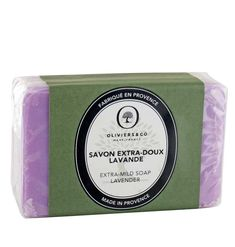 Find all the scents of Provence with this lavender extra mild soap, an iconic parfume of the South of France. This soap with subtle and refined notes of lavender gently cleanses your skin without drying.