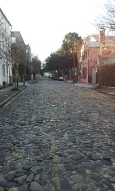Chalmers Street is the longest cobblestone road in Charleston, riding over this in your car will shake you to pieces