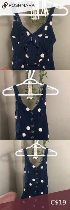 JAPNA Polka Open-Back Jumpsuit Super cute polka jumpsuit  🤍 V-neck 🤍 Button details at the front 🤍 Self-tie at back 🤍 Gartered lower back (waist cincher) 🤍 Cropped length 🤍 100% cotton  Condition: worn once; slight tear as seen on last photo Japna Pants Jumpsuits & Rompers Waist Cincher, Plus Fashion, Fashion Tips, Fashion Trends, Pant Jumpsuit, Jumpsuits, Pants For Women, Rompers, Overalls