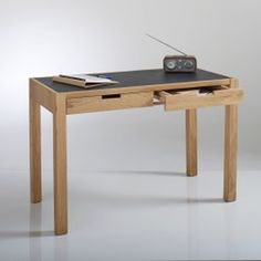 Watford 2-Drawer Desk with Leather Look Top La Redoute Interieurs - Desks