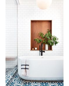 """Banner Day Interiors - Clara on Instagram: """"Yup, this bathroom is a 🏅. We're kicking off phase two next year. See ya dark early aughts kitchen. 🙌 Here's the plan: build an outdoor…"""" See Ya, How To Plan, Clawfoot Bathtub, Bathroom, Building, Interior, Kitchen, Outdoor, Home"""