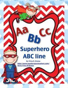 ABC Line (Superhero Themed)  by Trina R. Dralus Free!