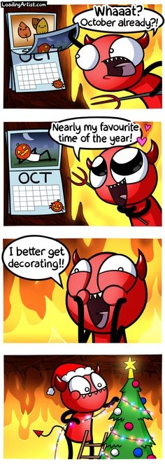 Hey, it's October! You know what that means! (Tap to view the full comic)
