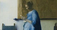 Woman in Blue Reading a Letter by Johannes Vermeer from Rijksmuseum Johannes Vermeer, Delft, Toy Art, National Gallery Of Art, Vermeer Paintings, Dutch Golden Age, Baroque Art, Getty Museum, Woman Reading