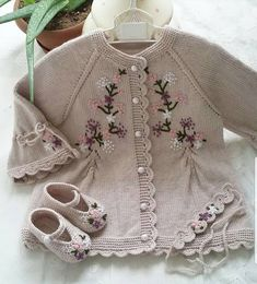 Photo # Description # none. Baby Knitting Patterns, Knitting Baby Girl, Baby Dress Patterns, Vintage Dress Patterns, Crochet Baby Cardigan, Knit Baby Sweaters, Knitted Baby Clothes, Crochet Clothes, Baby Girl Dresses