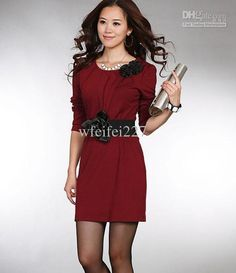 Wholesale 2012 Spring New Korean women red wedding dress toast clothing bridesmaid bridal wear dresses 4Color, Free shipping, $21.8-25.96/Piece | DHgate