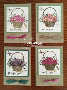 Blossoming Basket & Basket Weave TIEF & Stamparatus, Stampin Up by Kate Morgan, Independent Demonstrator, Australia DIY Class