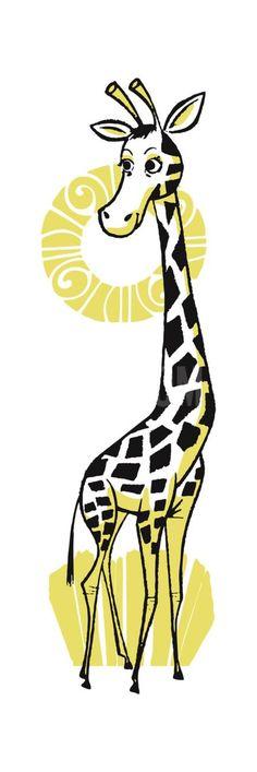 Retro Giraffe Illustration