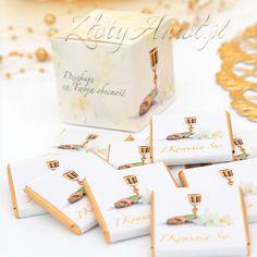 Słodkie czekoladki dla gości koniecznie połączcie z podobnymi pudełeczkami na upominek!
