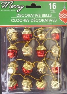 The Pecan Man 16 pcs CHRISTMAS 1 BALL ORNAMENTS Shatterproof Decorations Xmas Trees Wedding Parties Red Gold >>> Click on the image for additional details.