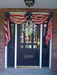 Front door for 4th of July and the election.