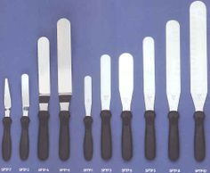 Stainless Steel Spatulas - These spatulas are made from high-quality stainless steel blades and polypropylene handles which prevents saturation of grease, bacteria and moisture.