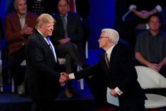 """Donald J. Trump said on Tuesday night that he no longer vowed to support the Republican nominee if it isn't him, despite a loyalty pledge that all Republican primary candidates signed last year.     When Mr. Cooper pointed out that Senator Ted Cruz of Texas, Mr. Trump's chief rival for the nomination, had walked up to the line but not crossed it in terms of saying he wouldn't support the nominee, Mr. Trump replied, """"He doesn't have to support me."""""""