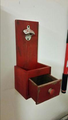 Wall mounted bottle opener. By Poppin bottles