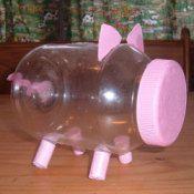 Mayonnaise Jar Piggy Bank