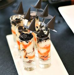 Halloween Perfectly Poisonous Parfait using Pier 1 Mini Cordial Glasses
