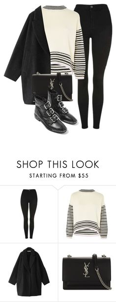 """""""Untitled #7134"""" by laurenmboot ❤ liked on Polyvore featuring Topshop, Enföld and Yves Saint Laurent"""