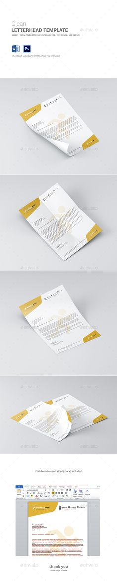 Corporate Letterhead Template Letterhead template and Letterhead - letterhead template