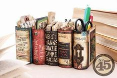 Keep your desk tidy AND show off your love of books! http://writersrelief.com/