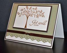 Invitación de boda hecha a mano 6 x 45 Stampin por WhimsyArtCards