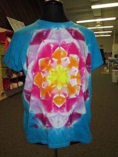 Ladies Xtra Large Tie Dye Lotus Flower Tie Dye by AlbanyTieDye, $24.99
