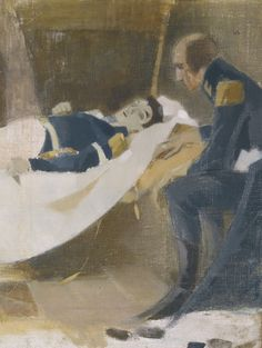 Helene Schjerfbeck, The Death of Wilhelm von Scwerin, 1927, Oil on canvas, 79,5 x 61,5 cm, Private Collection