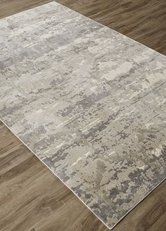 When only an art-inspired rug will do, the distressed pattern of this dramatic, machine-made piece in bamboo silk will intrigue customers searching for a trendsetting look.