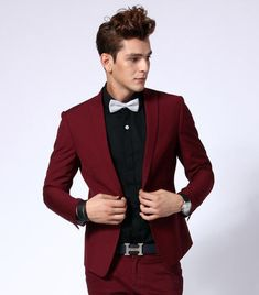 Red Wine Suit Proms Suit