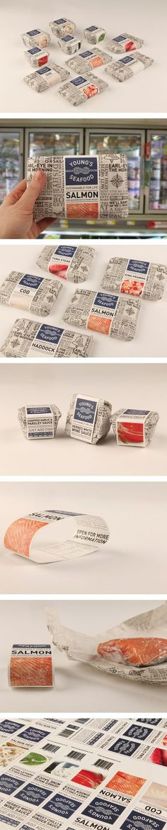 Young's Seafood by Emily Myers, via Behance #packaging #seafood #awesome i love this, i really do.: