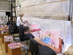 Wow! Juan DaVila 'Sorry' tapestry being woven at the Australian Tapestry Workshop.